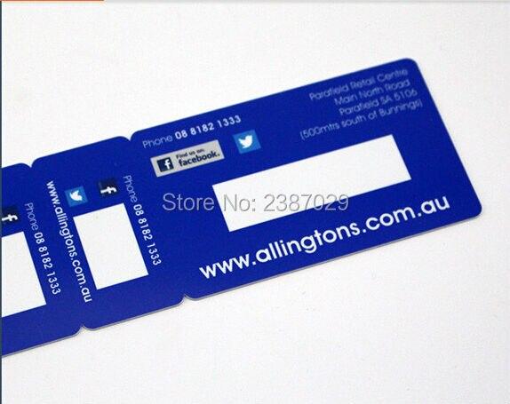 100 pcs En Plastique Combo Snap-off Porte-clés Code-barres D'adhésion Carte avec 2 Petit Porte-clés Carte