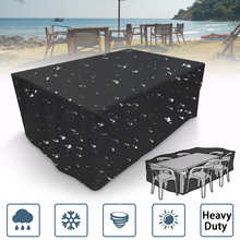 hot deal buy black outdoor waterproof garden beach furniture cover protector table set chair sofa covers tighten patio dust protection 4 size