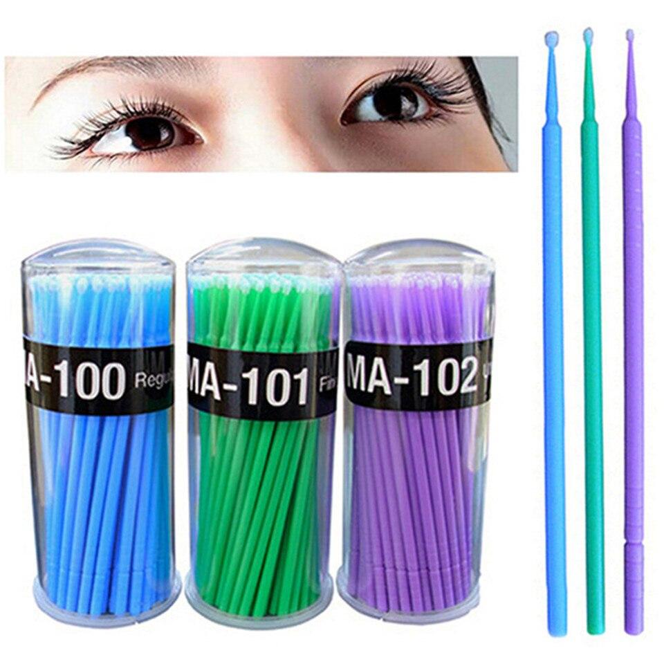 400Pcs eyelash Disposable Micro Brush makeup Brushes eyelash extensions Applicators Mascara Removing False eyelashes Cotton Swab