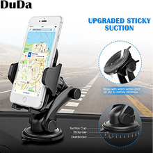 DuDa Universal Mobile Phone Holder Stand Support Car Dashboard Mount for iPhone 8 x 7 xiaomi mi oppo f Smartphone Accessories