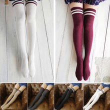 Autumn Winter Hot Sale UK Mini Women Girls Opaque Knitted Thick Over The Knee Long Warm Cute Stockings Leggings