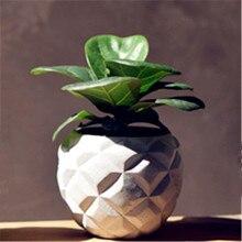 Concrete 3D Pineapple Vase Mould Creative Desktop Decoration Pot Pen Holder Silicone Mold for Cactus Succulent Plants