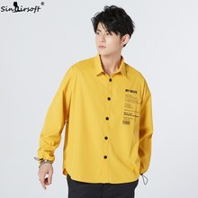 M-2XL Casual Orange Mens Jacket New Listing High Quality Korean Version Of The Trend Shirt Loose Long-sleeved Male