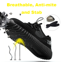 Working Shoes Man Safety Sneakers Work Shoes With Steel Toe Cap Bambas Seguridad Army Bambas Seguridad Waterproof Arbeitsschuhe