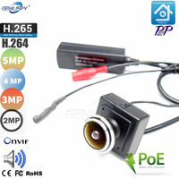 Micro Size 5MP Wide Angle PoE IP Camera Onvif P2P Indoor 1.78MM Fisheye Lens Security Audio Video Surveillance Network Camera