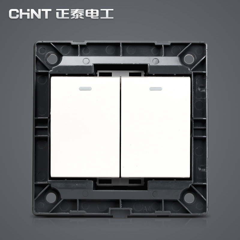 CHNT Switches New 86 Type Wall Switch Panel NEW7N Ivory White Two Gang Two Way Push Button Switch in Switches from Lights Lighting