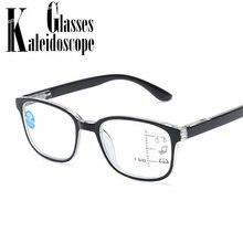 14a63bc258a Lunettes de lecture Anti lumière bleue hommes lunettes 2.5 lunettes  multifocales progressives femmes vue proche de loin lunettes.