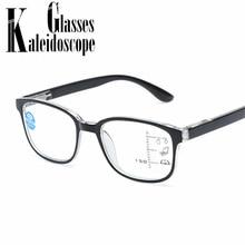 77a07e0c3bc8c Anti luz azul Homens Óculos De Leitura Óculos 2.5 Óculos Multifocal  Progressiva Quadro Mulheres Perto Distante