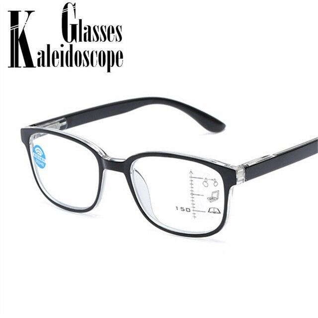 566155217bc51 Anti luz azul Homens Óculos De Leitura Óculos 2.5 Óculos Multifocal  Progressiva Quadro Mulheres Perto Distante