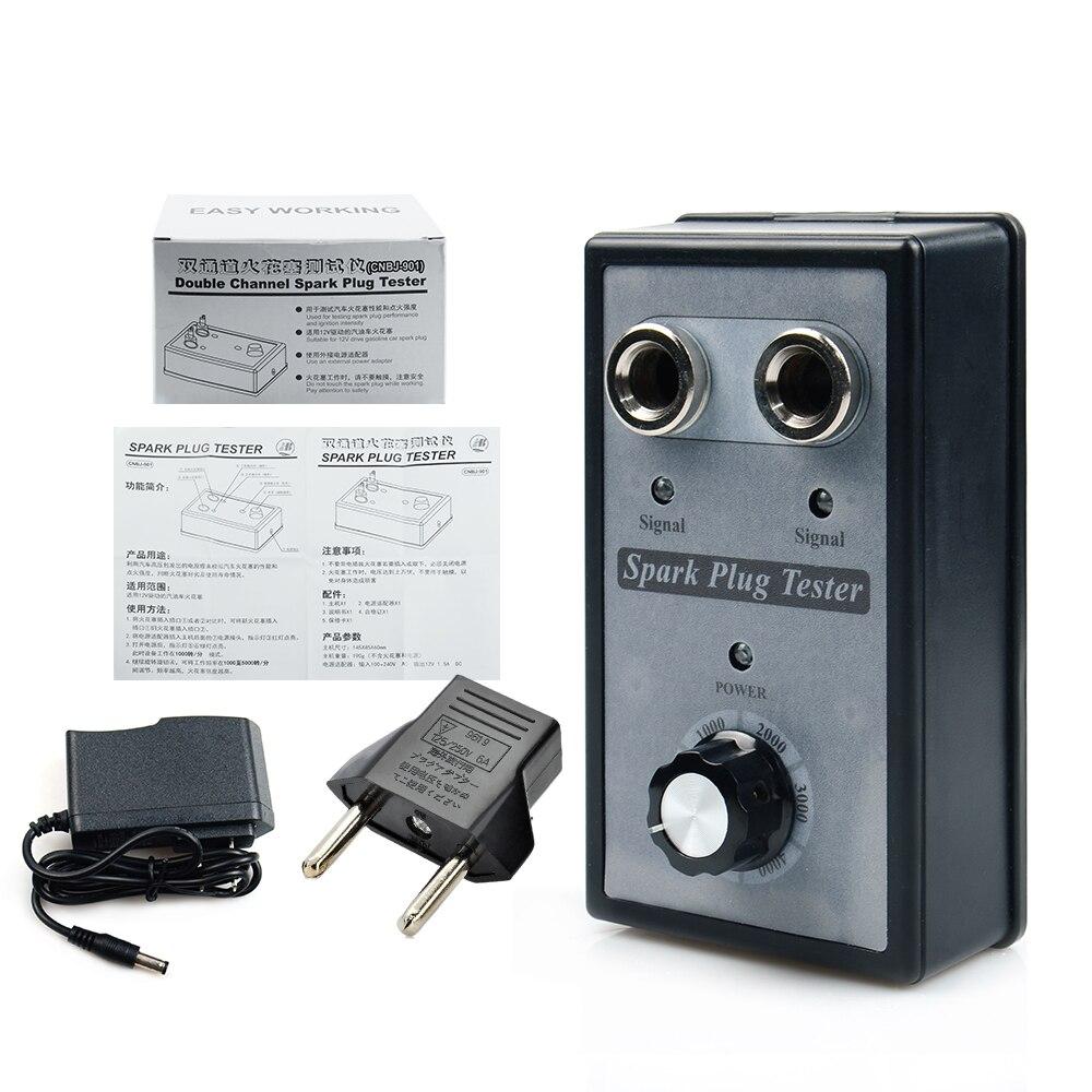Автомобильный тестер свечей зажигания тестеры зажигания автомобильный диагностический инструмент анализатор двойного отверстия для бензиновые автомобили 12 В