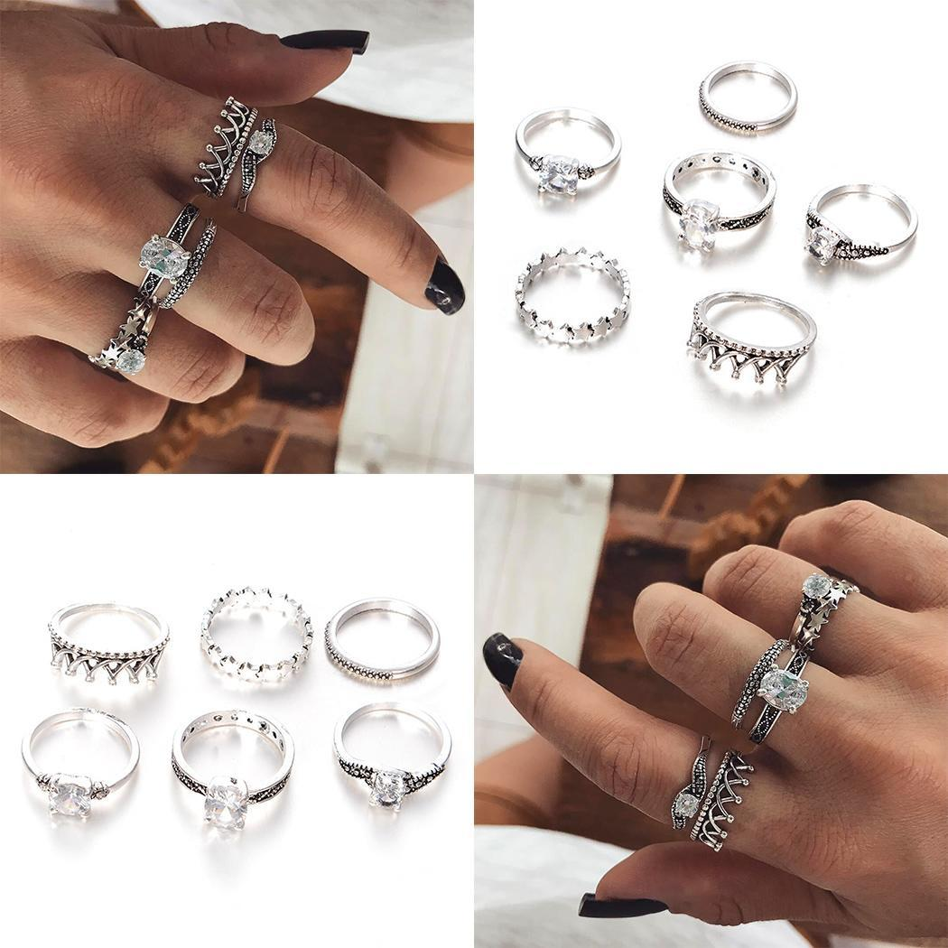 Jewelry & Accessories Engagement Rings Geometric Fashion Rhinestone Unisex Shape Ring