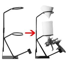 Le plus nouveau support de support de pistolet de pulvérisation support de pulvérisateur de support de peinture dalimentation de gravité avec le support de crépine