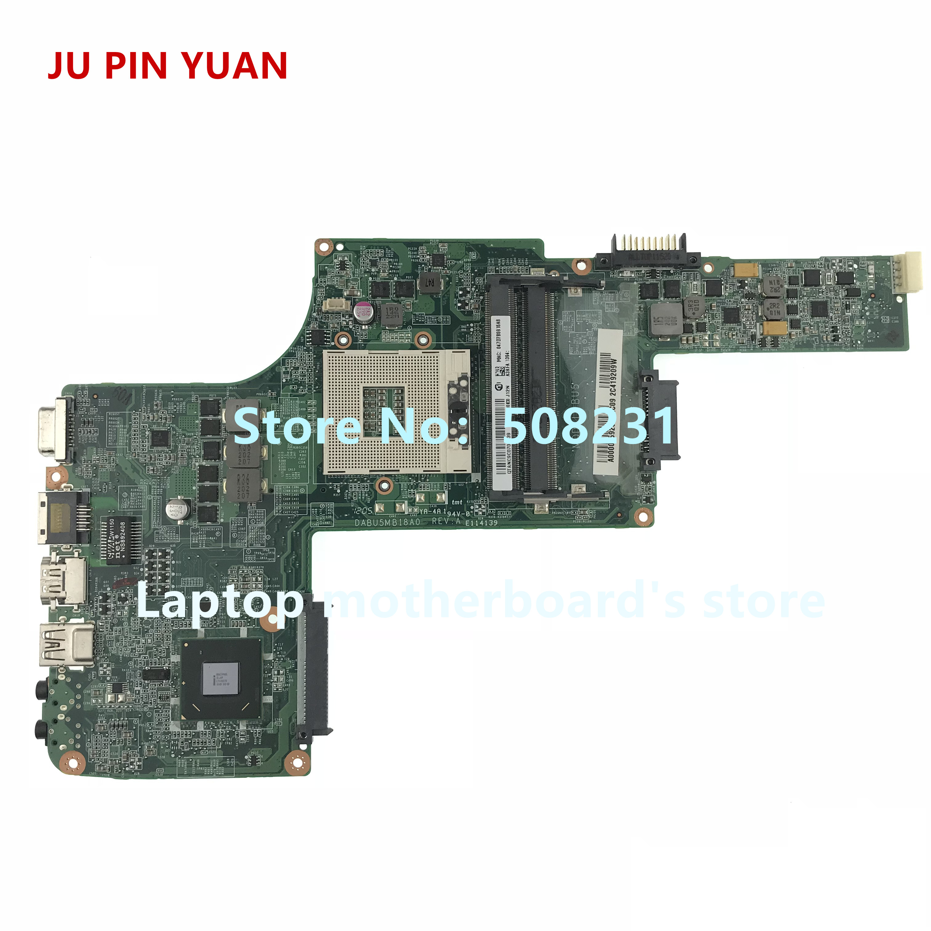 JU PIN YUAN A000095920 DA0BU5MB8E0 mainboard for Toshiba satellite L730 L735 Laptop motherboard HM65,All functions fully Tested-in Laptop Motherboard from Computer & Office    1