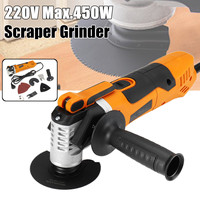 220V Multifunction Electric Oscillating Multi Tool Sander Cutter Scraper Grinder For Cutting Sanding Cleaning Shovel Cutting