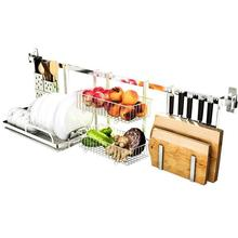 Organizadores Fridge Organizer Escurridor De Platos Nevera Stainless Steel Cocina Organizador Mutfak Kitchen Storage Rack Holder
