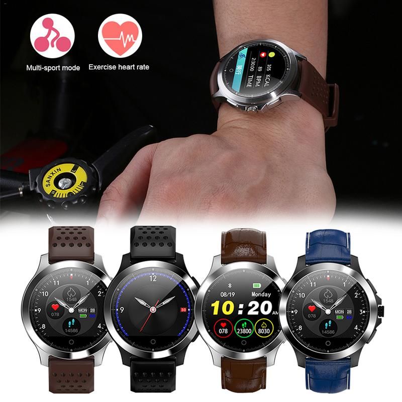 W8 Smart Watch Color Screen ECG and PPG Heart Rate Blood Pressure Monitor Multi function Waterproof Sports for Android and iOS