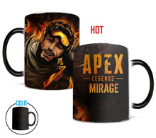 Newest Style Ceramic Cups Changing Color Mug Milk Coffee Mugs Friends Gifts Student Breakfast Cup Apex Legends