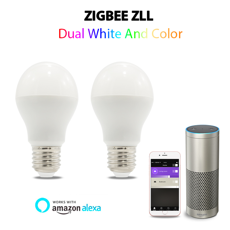 10pcs Set ZIGBEE ZLL RGB CCT LED BULB 6W Dual White and Color spotlight E26 E27 smartphone APP control for Entertainment venue in LED Bulbs Tubes from Lights Lighting