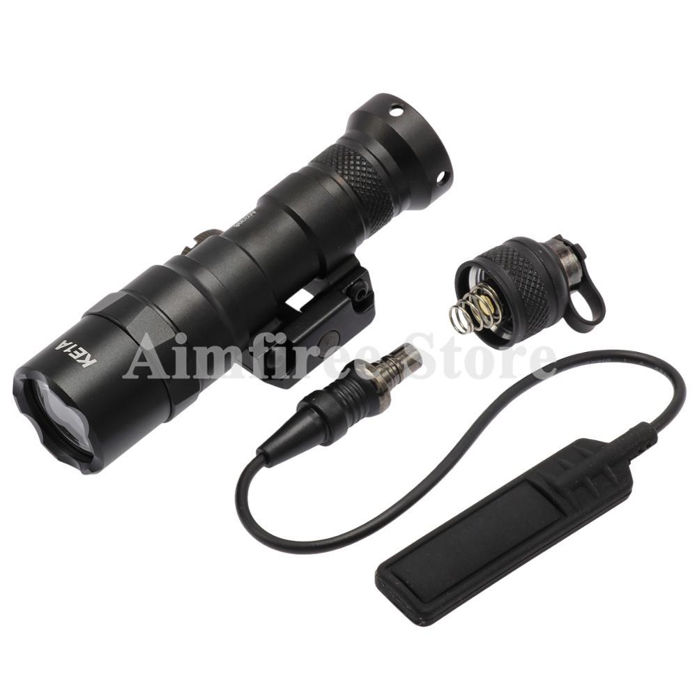 tatico m300b mini olheiro luz arma rifle de caca lanterna 400 lumen luz led lanterna fit