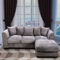 Panana Living Room Sofa set Corner Sofa 2 seaters/ 3 seater/ 3 seater with Footstool with Fabric Pillows Fast Delivery