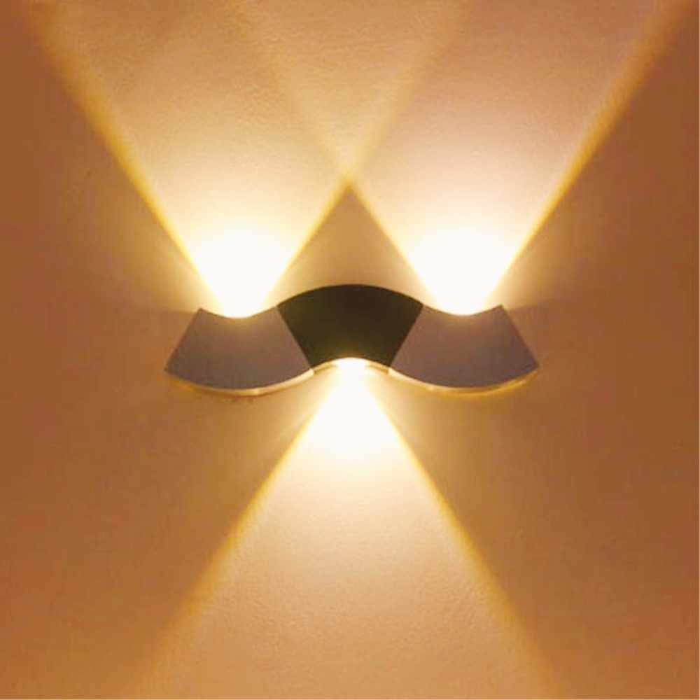 Lámpara de pared interior de 15 modelos de aluminio ondulado 110V 220V aplique Led decoración moderna del hogar dormitorio pasillo lámpara de pared creativa