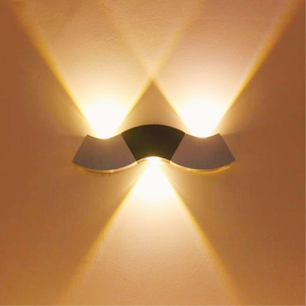Indoor LED Wall Light 3W Wavelike Aluminum Wall Mounted Sconce AC85-265V Modern Home Decoration Bedroom Corridor Led Wall Lamp