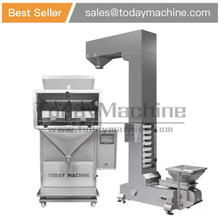 Semi automatic granule liner weigher can bag bottle jar filler / filling machine with elevator for walnut цена в Москве и Питере