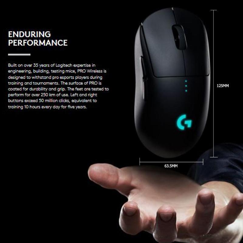 Logitech G PRO souris de jeu sans fil RGB double Mode avec capteur HERO 16000 DPI LIGHTSPEED Laser Gamer souris POWERPLAY Compatible - 6