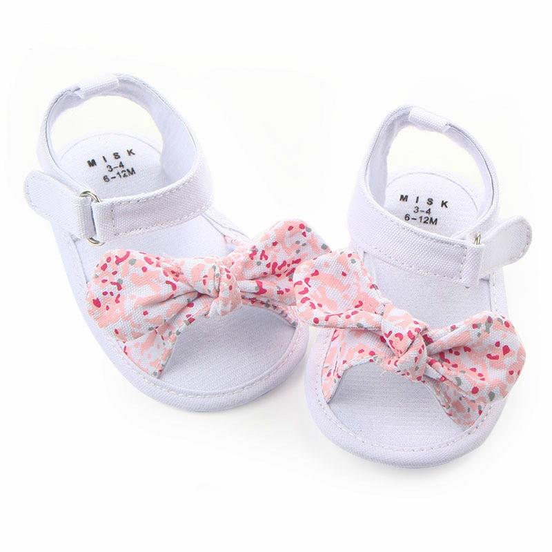 MAYA STEPAN 1 Pair Children Baby Kids Boys Girls Shoes Non-Slip Canvas Bowknot Toddlers Newborn Infantil Sandals 3