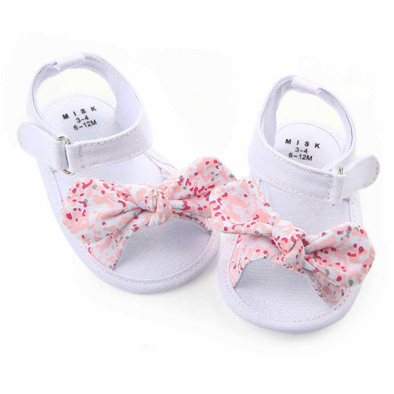 מאיה סטפן 1 זוג ילדי תינוק ילדים בני בנות נעלי החלקה בד Bowknot פעוטות יילוד Infantil סנדלי