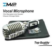Profesjonalne 55SHII klasyczny Vintage styl przewodowy mikrofon dynamiczny 55SH II Mic dla wydajności śpiew na żywo Karaoke Podcast etapie