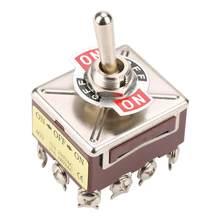 Interrupteur à bascule à 3 positions 4PDT 12 broches interrupteur à bascule de bateau de voiture ON/OFF/ON 15A 250VAC 10A 380VAC