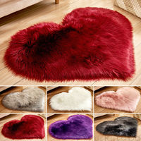 Heart-Shaped Rugs Anti-Skid Area Rug Dining Room Carpet Floor Mat Home Bedroom Household Plush Carpet
