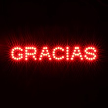 New product GRACIAS Thanks in Spanish Universal led lights general brake lamp third light car