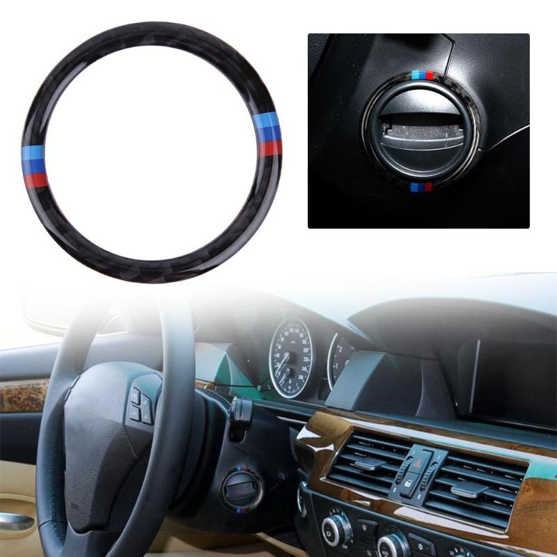 <font><b>Carbon</b></font> Fiber Car Engine Start Stop Button Cover Trim for <font><b>BMW</b></font> <font><b>E60</b></font> 5 Series image