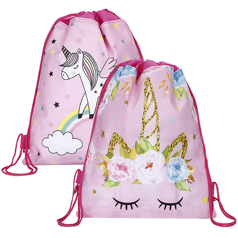 New 2019 Women Unicorn Drawstring Bag Travel Storage Package Cartoon School Backpack Nylon Birthday Party For Teenage Girls New 2019 Women Unicorn Drawstring Bag Travel Storage Package Cartoon School Backpack Nylon Birthday Party For Teenage Girls