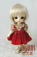 JD025 1/8 1/6 Fashion Short cut BJD wig with bangs for size 5-6inch 6-7inch doll soft synthetic mohair doll accessories