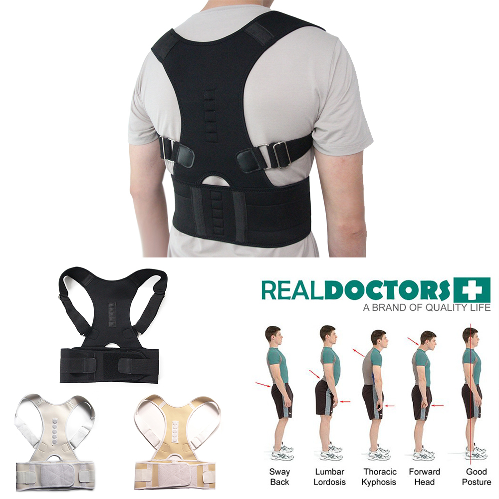 2018 Adjustable Magnetic Posture Corrector Corset Back Brace Back Belt Lumbar Support Straight Corrector de espalda