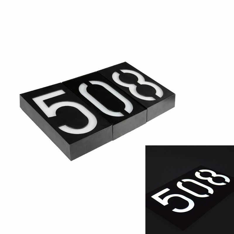 Водостойкое поступление солнечной энергии номер СВЕТОДИОДНЫЙ световой знак Дом отель дверь адрес доска почтовый ящик цифра пластина Солнечная настенная дверь лампа