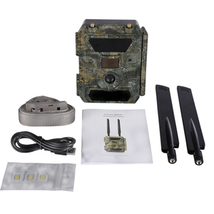 Image 5 - 4.0CG  APP remote contral Cameras 110degree wide Lens Wireless Forest Cameras  57pcs invisible IR LED 4G covert cameras