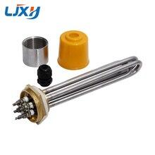 Elemento de aquecimento 220 v/380 v 3kw/4.5kw/6kw/9kw/12kw 304ss da água de ljxh dn40 com peças sobresselentes interais da linha de cobre da porca para o tanque