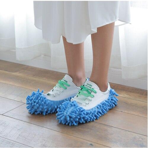 Bụi Cleaner Dép Giày Bìa Lau Vải Nhà Sàn Phòng Tắm Làm Sạch Giày 1 pcs
