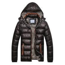 Новинка, модная зимняя куртка для мужчин, повседневная Толстая теплая куртка, мужское пальто со стоячим воротником, ветрозащитная парка с капюшоном, пальто, одежда