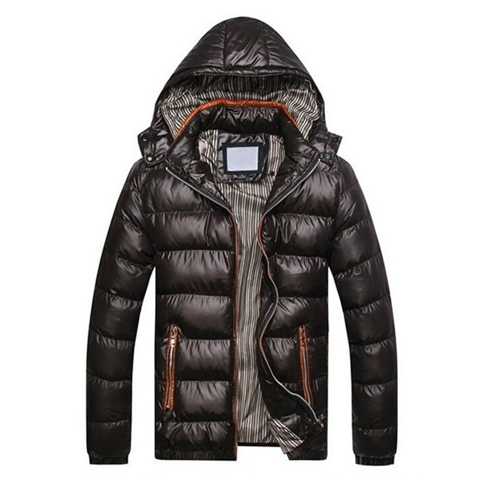 2019 Neue Mode Winter Jacke Männer Casual Dicke Warme Jacke Mantel Männlich Stehen Kragen Winddicht Parkas Mit Kapuze Mantel Kleidung Clear-Cut-Textur