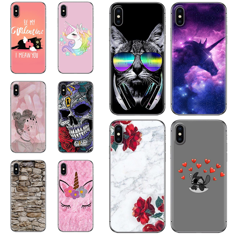 Ins Style Colorful Painted Back Phone Cover For Alcatel 1X/ 3/ 3C/ 3V/ 3X/ 5/ U5 Plus/ 5V/ 7 Stylish Design Soft Phone Case