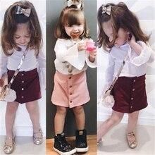 Новинка; модные милые юбки для девочек; стильные юбки принцессы на пуговицах для маленьких девочек; вечерние узкие юбки
