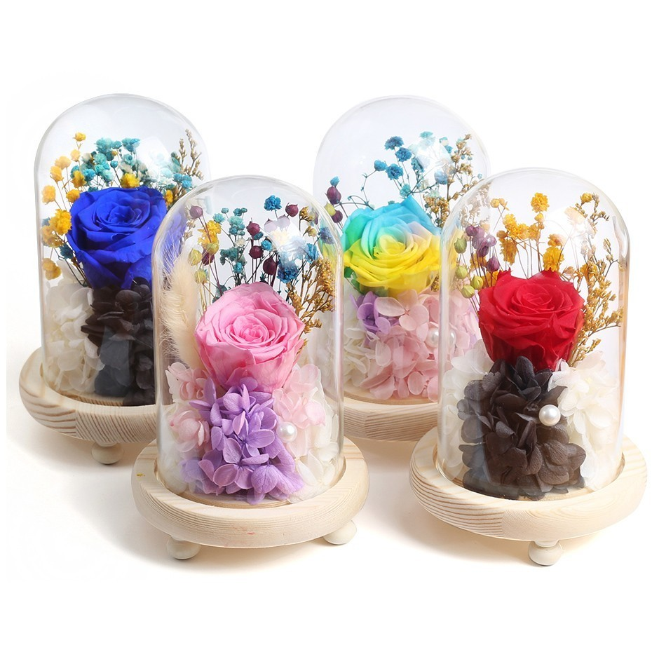Beauty And The Beast Eternal Rose Valentines Day Gift Rose In Glass Eternal Rose Flower Floral