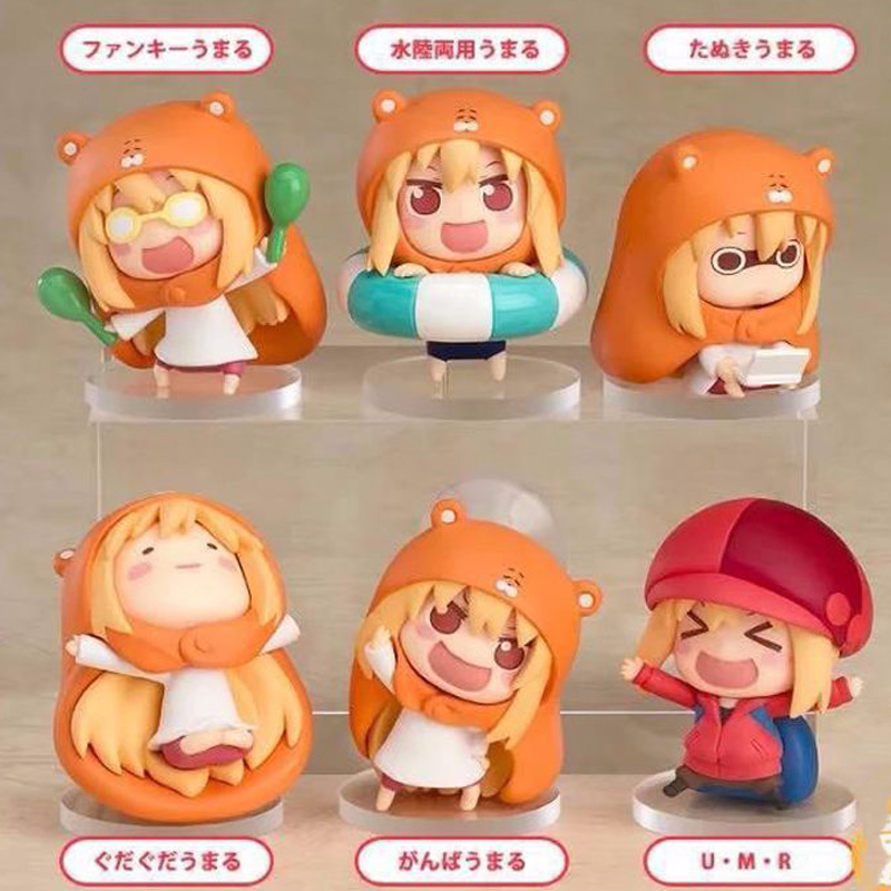 Umaru-chan Umaru Doma 6pcs/lot Anime Small Buried Sankaku Head Himouto! PVC Action Figures Toys Anime Figure Toys For Kids Gifts