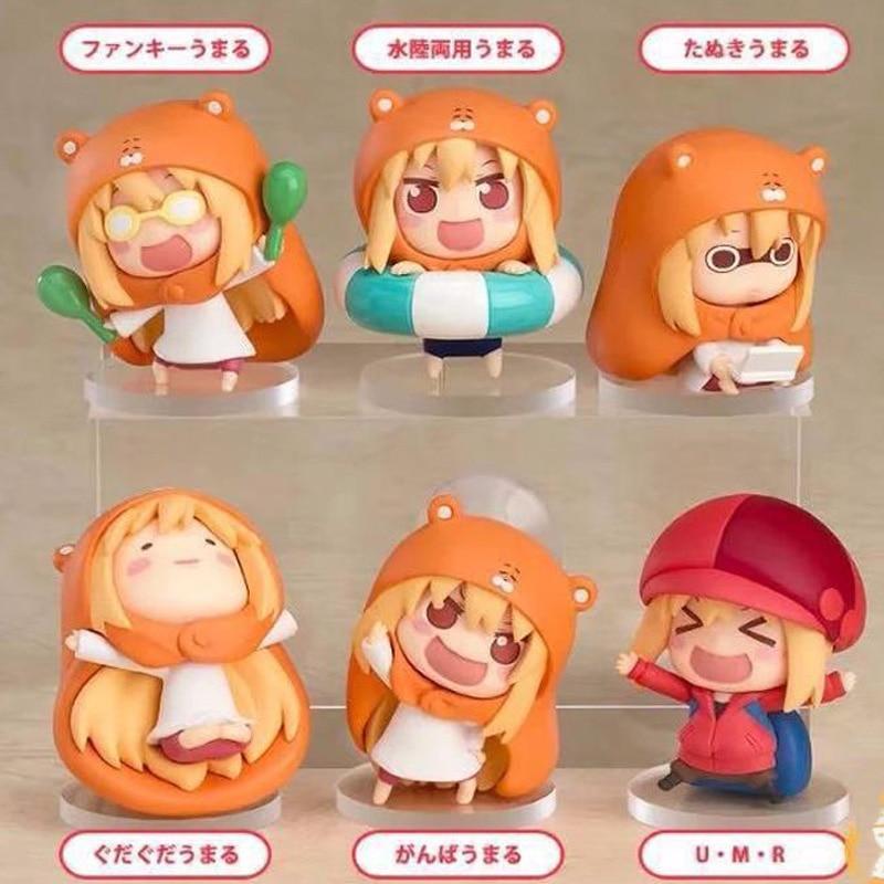 Umaru-chan Umaru Doma 6pcs/lot Anime Small Buried Sankaku Head Himouto! PVC Action Figures Toys Anime Figure Toys For Kids Gifts