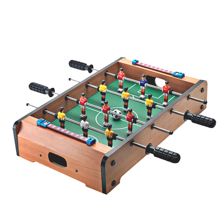 <font><b>LK106</b></font> Mini Children Tabletop Football Eco-friendly Table Football Machines 4 Pole Desktop Toys Games Vivid Modelling image